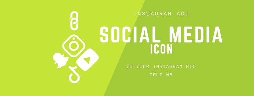 Instagram add social media icon