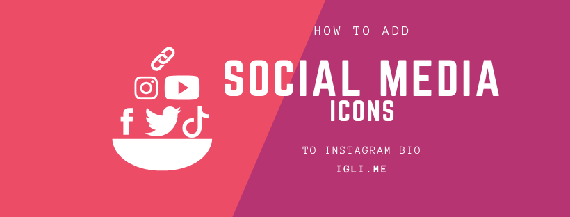 How to add social media icons to instagram