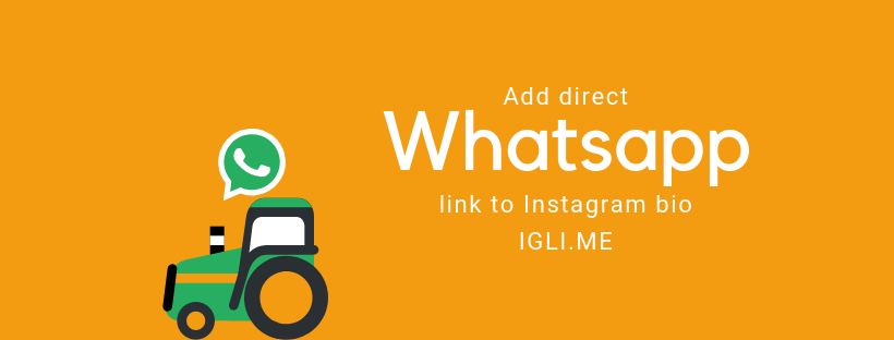 Insert link in Instagram bio that will open WhatsApp app
