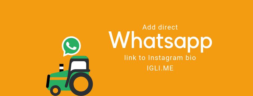 Insert link in Instagram bio that will open WhatsApp app