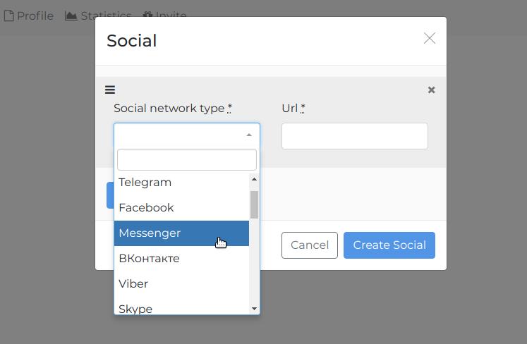 Insert link in Instagram bio that will open Messenger app